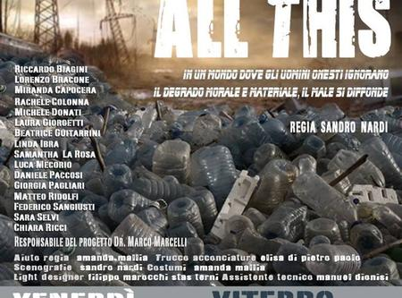 All this, il laboratorio teatrale integrato in scena  venerdì all'Unione e sabato al teatro Boni di Acquapendente